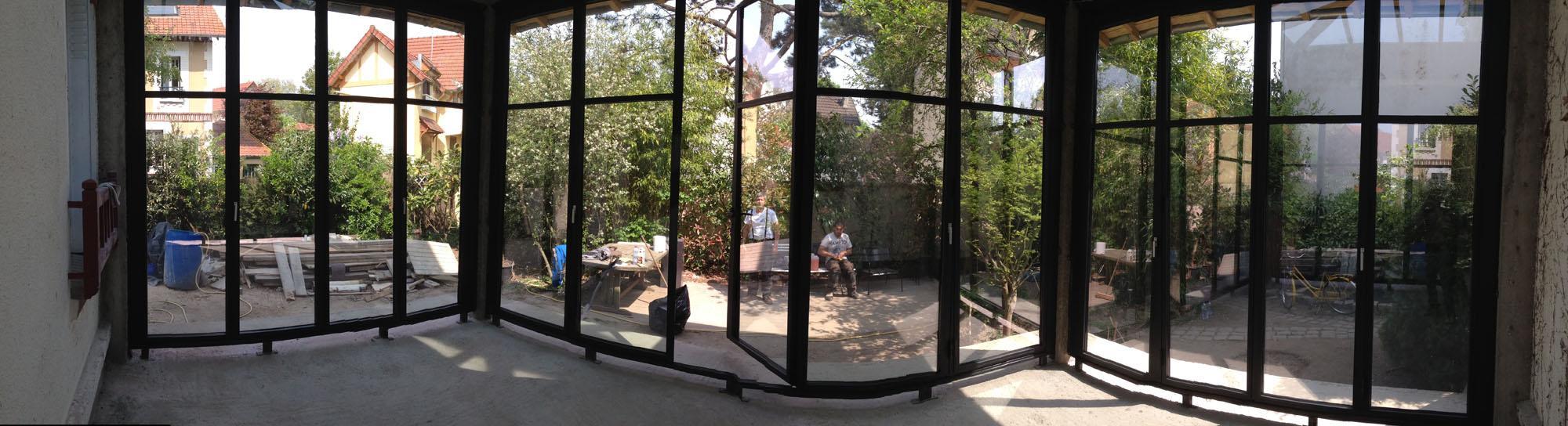 Transformation d'une terrasse en verranda sur mesure au Vésinet en Ile-de-France