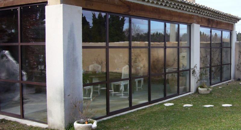Fermeture d'une terrasse couverte