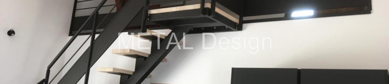 Fabrication et pose d'un escalier et garde corps en acier pour mezzanine à Salon 13