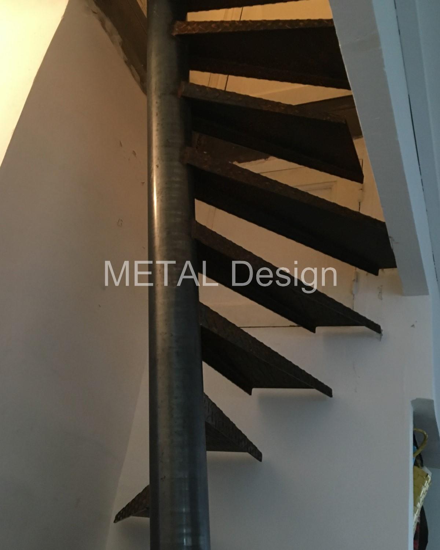 Hélicoïdal petit espace marches métal
