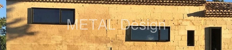 Rénovation avec des menuiseries acier sur mesure dans un Mas à Tarascon en Provence