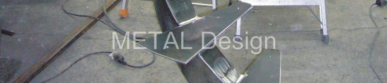 Escalier à structure métallique
