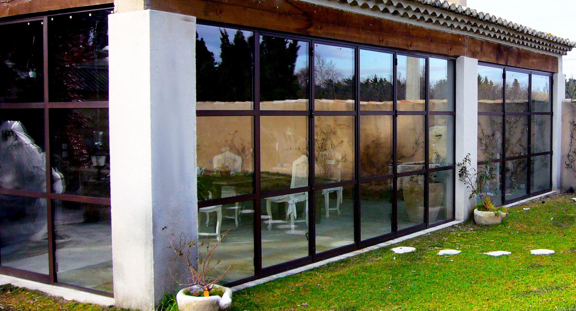 veranda acier et rupture de pont thermique vente v randas acier aix en provence. Black Bedroom Furniture Sets. Home Design Ideas