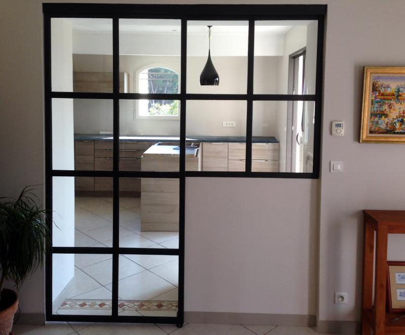 Porte cloison menuiserie int rieur fabrication cloison m tallique vitr e - Porte de separation vitree ...