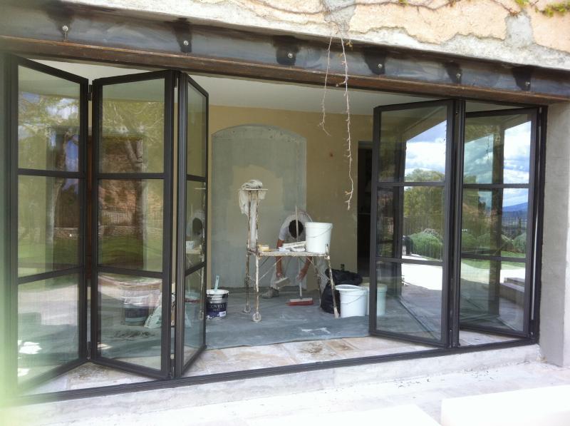 Verriere Accordeon Vantaux Repliables Vente Baie Acier Aix En Provence